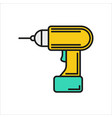 screwdriver icon on white background vector image vector image