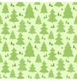 Seamless green pattern with hand drawn christmas vector image vector image