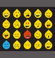 set emoticons stickers emoji vector image vector image