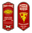 set flyers pizzeria design elements vector image vector image