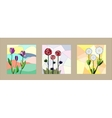 Set of floral cards vector image vector image