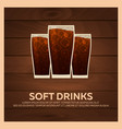 soft drinks bunner fast food restauran menu vector image