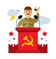 Soviet leader parodic character Flat style vector image vector image