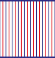 stripe seamless pattern with redblue and white vector image vector image