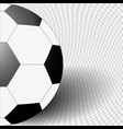the ball is black white color on gray background vector image vector image