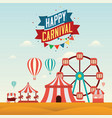 the carnival funfair design vector image