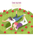 time together isometric colored background vector image vector image