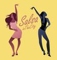 two young girls dancing latin music salsa vector image