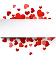 Valentines card with hearts vector image vector image