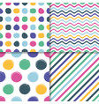 various seamless simple retro pattern set vector image vector image