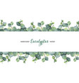 Watercolor green floral banner with silver