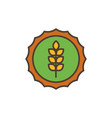 wheat stamp oktoberfest icon line filled vector image