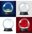 winter snow globe collection vector image