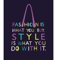 Woman bag from quote vector image vector image