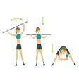 woman fitness slim doing fitness vector image