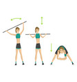 woman fitness slim woman doing fitness vector image vector image