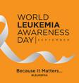 world leukemia awareness day on orange vector image vector image