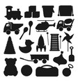 kids toy silhouettes vector image