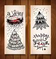 New Year vertical banners vector image