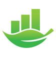 green leaf economy bar logo design vector image