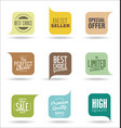 abstract modern sale badges collection 1 vector image vector image
