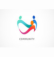 abstract people symbol togetherness and community vector image vector image