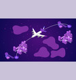 airplane line path air plane flight route vector image vector image