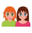 anime girls portrait manga vector image