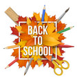 back to school frame leaves vector image