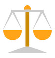 balance scale icon balance symbol - justice sign vector image