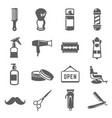 barbershop icon set professional barber business vector image