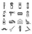 barbershop icon set professional barber business vector image vector image
