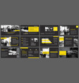 black yellow presentation templates and vector image vector image