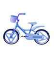 blue children bike wheeled eco transport for kids vector image
