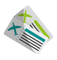 boarding pass two icon image vector image vector image