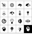 Brainstorm Icons Black vector image vector image