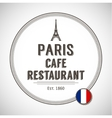 Brasserie Paris Badge vector image
