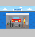 car repair service auto mechanic character in vector image