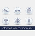 clothes icon set white milk vector image