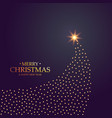creative christmas tree design made with golden vector image vector image