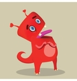 Cute cartoon red monster vector image