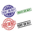 damaged textured rent or buy seal stamps vector image
