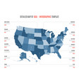 detailed map united states america vector image