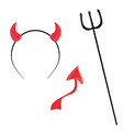 Devil horntail and trident vector image vector image