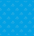 eastern castle pattern seamless blue vector image