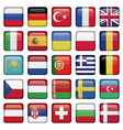 Europe Icons Squared Flags vector image