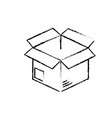 figure open box to delivery innovation vector image vector image