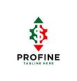 financial marketing business arrow logo vector image vector image