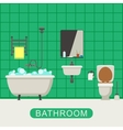 Flat of bathroom vector image vector image