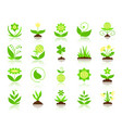 garden simple flat color icons set vector image vector image